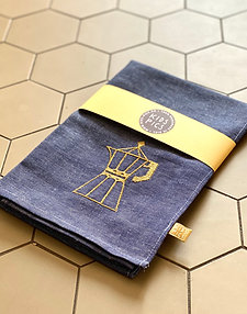 KITCHEN TOWEL NAVY/GOLD
