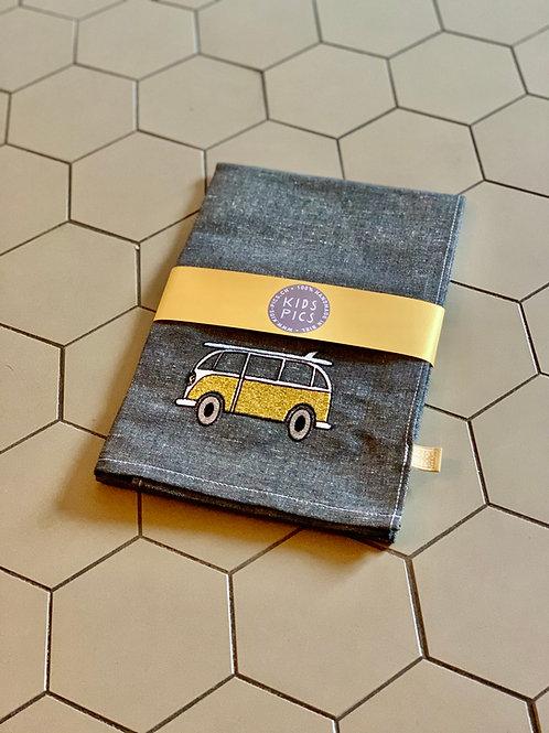 KITCHEN TOWEL VW BLACK/GOLD