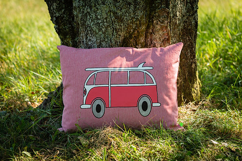 CUSHION RED/PINK