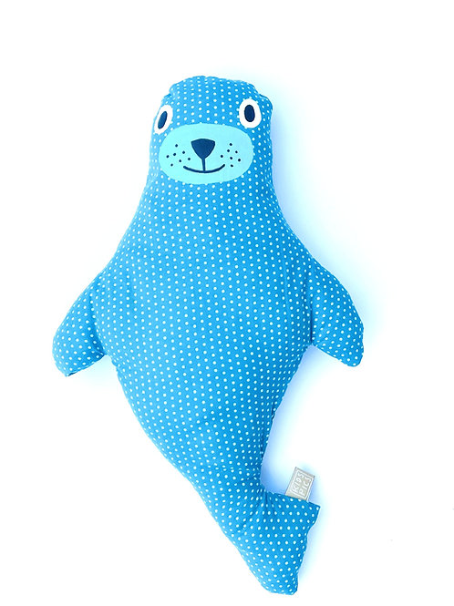 CUDDLE CUSHION SEAL DOTS /TURQUOISE