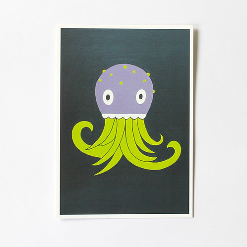 POSTCARD JELLYFISH