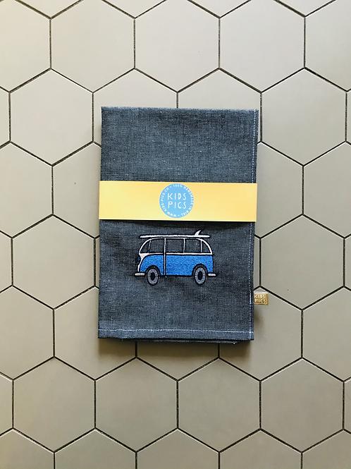 KITCHEN TOWEL VW BLACK/BLUE