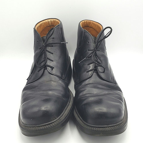 Ecco Black Leather Lace Up Boots - size 49