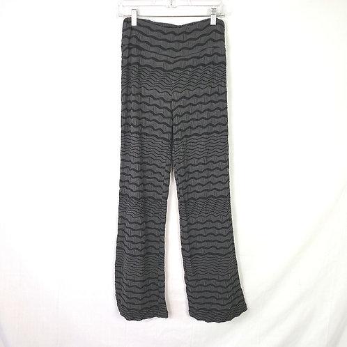Chalet Black and Gray Zig Zag Pants - S