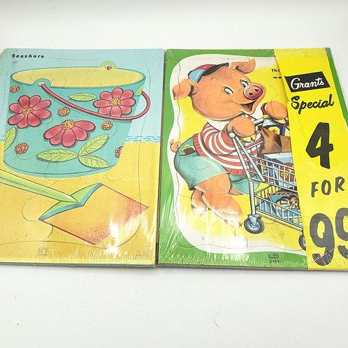 Vintage Grants 4 Kids Puzzles Unopened