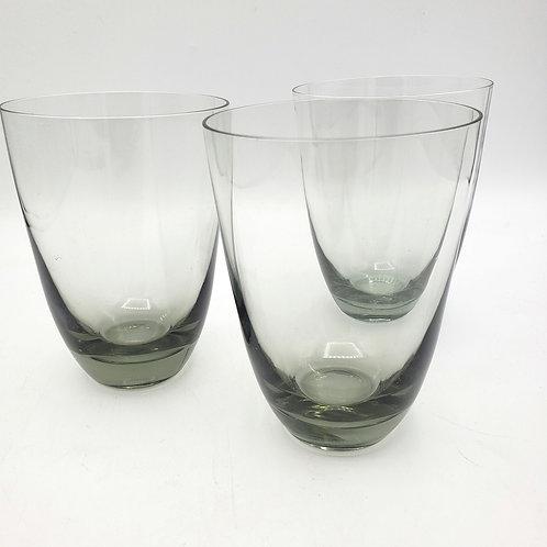 """Gray Glassware 4.5"""" Set of 3"""