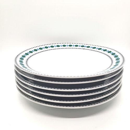 """Vintage Porcelain 9"""" Plates P S Schirnding Bavaria Set of 6"""