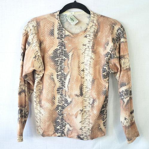 Vintage Luisa Ti Snake Print Pullover - PS