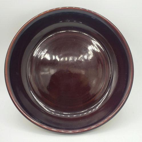 """Brown Glazed Pie Quiche Dish 12"""""""
