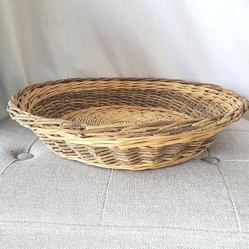 """Wicker Basket Tray 12"""" Wide"""