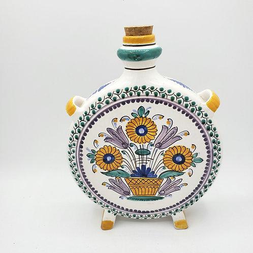 "Vintage Keramika Modra Slovakian Decorative Bottle 10""H"