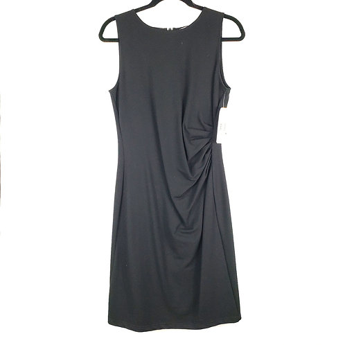 Kenneth Cole Black Ruched Dress - size 8 New
