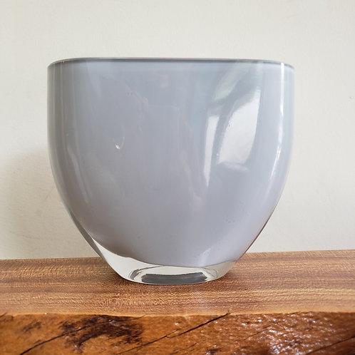 Grey Art Glass Vase