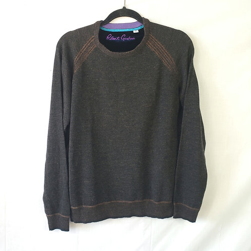 Robert Graham Brown Wool Sweater - M