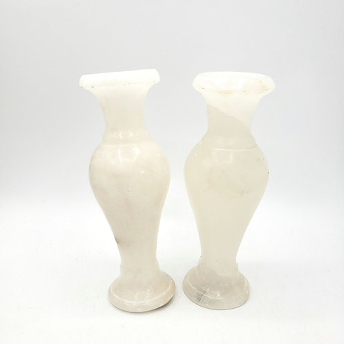 Alabaster Stone Candlestick Holders Set of 2 Linens N Things