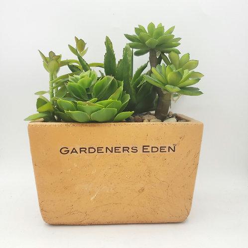 Gardeners Eden Faux Succulent Planter