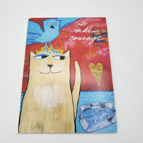 It Takes Courage to Create Peace Card with Envelope