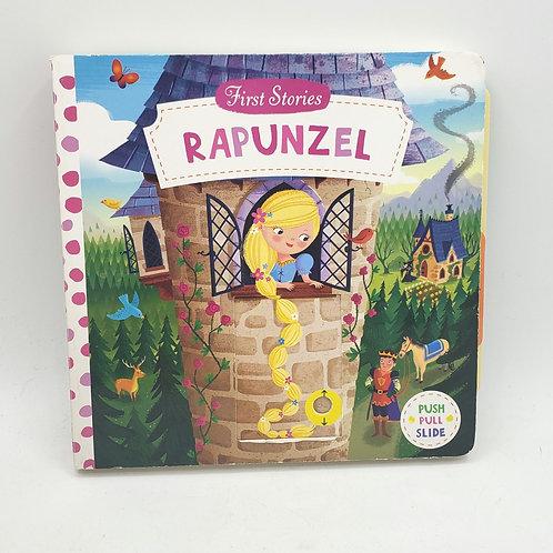 First Series Rapunzel Push Pull Slide Board Book