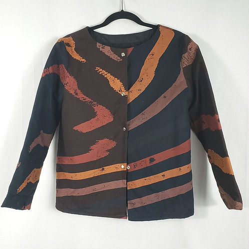 Handmade Quilted Pattern Blazer - approx S