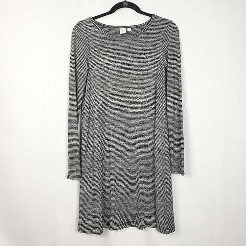 Gap Mini Stripe Black & Gray Jersey Dress - XS
