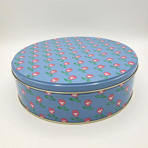 """Nesting Round Tin Floral Boxes(largest 6""""wide)"""