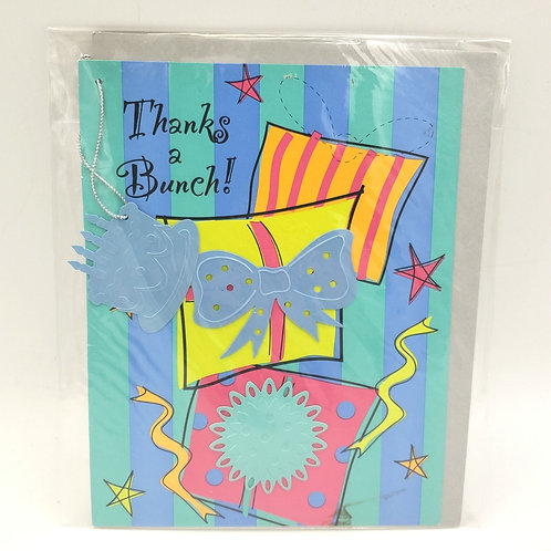 Thanks A Bunch Blank Embellished Blank Card with Envelope