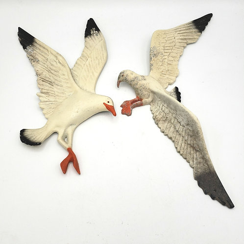 Vintage Seagull Wall Art Set of 2