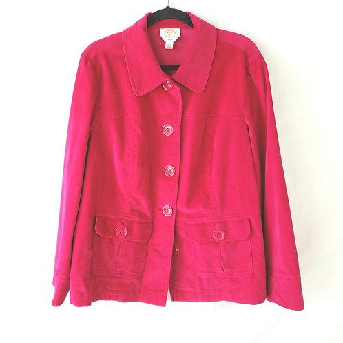 Talbots Hot Pink Velvet Jacket - 18W