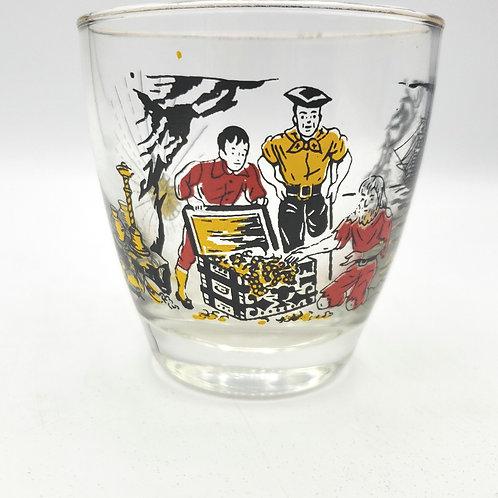 Vintage Treasure Island Lowball Glass
