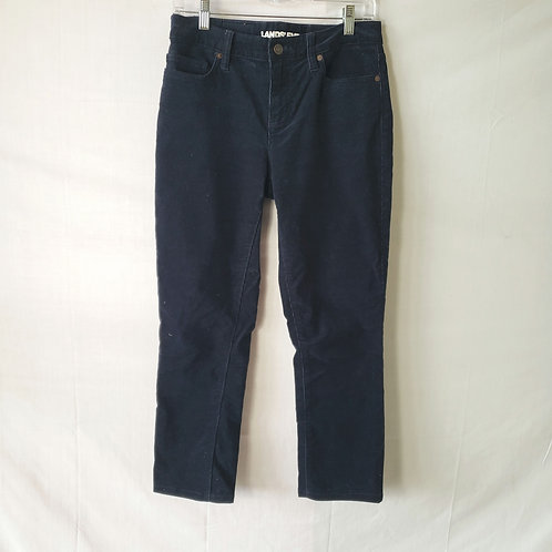 Land's End Navy Mid-Rise Straight Corduroys - size 4