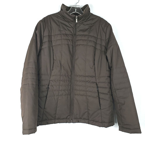 Land's End Brown Quilted Jacket - L