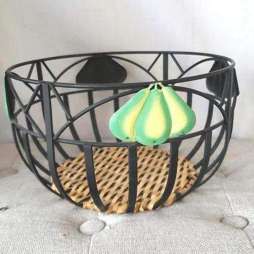 Metal Pear Basket