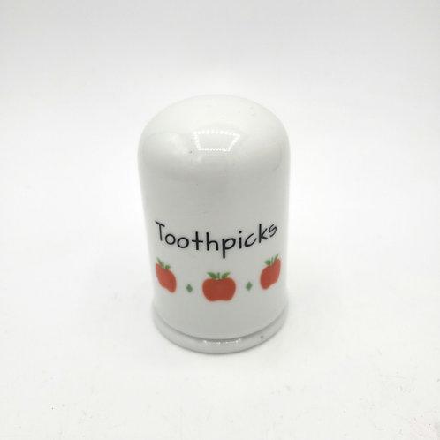 Strawberry Porcelain Toothpick Holder