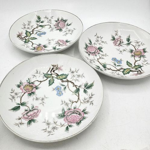 "Vintage Fine China ""chantilly"" by Halsley Bowls Set of 3"