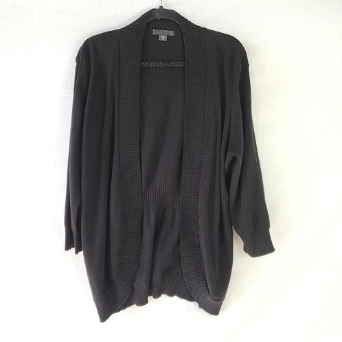 Covington Black Open Cardigan - XL
