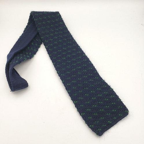 Vintage Rufflernit By Rooster Wool Tie