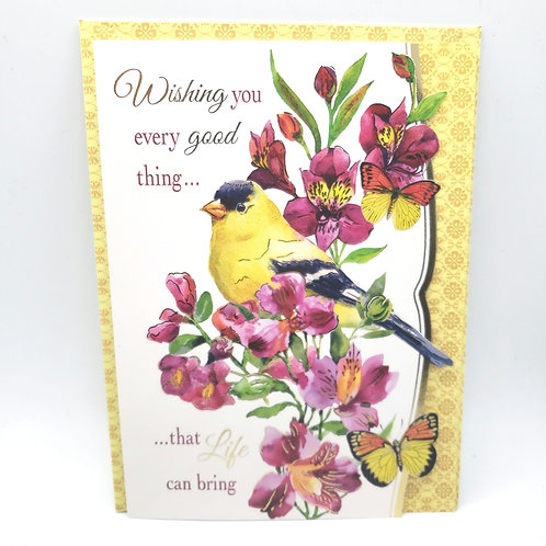 New Beginnings Happy Birthday Card with Envelope