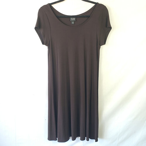 Eileen Fisher Brown Silk Tunic - S