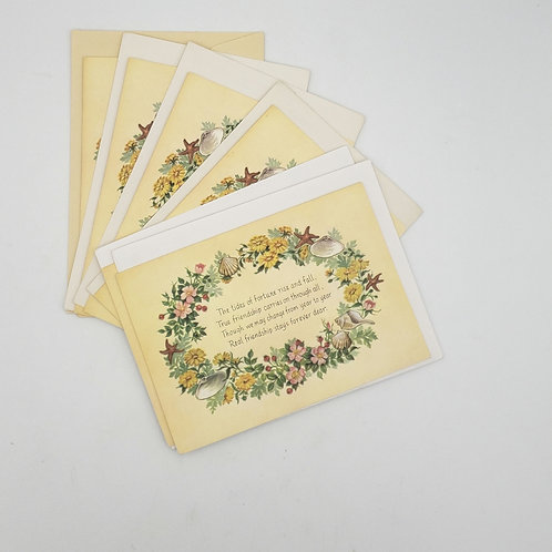 Friendship Blank Cards with Envelope Set of 6 Cards