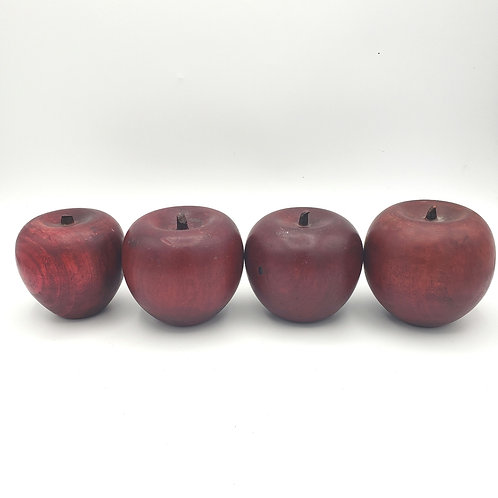 Decorative Wooden Apples Set of 4