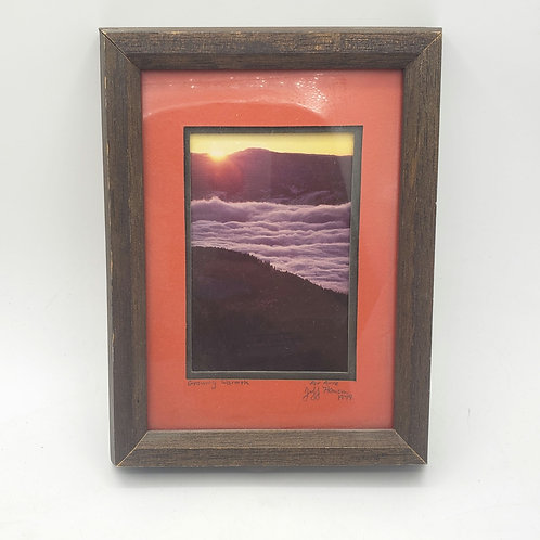 """1979 Candid Photo For Anne """"Growing Warmth"""" 7""""x10"""" Frame"""