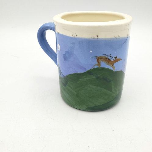 "Handmade Ceramic Painted Glazed Mug Smaller Size 3.75"""