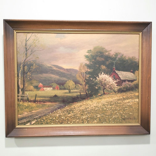 Vintage Early Spring by Robert Wood Litho Art Print