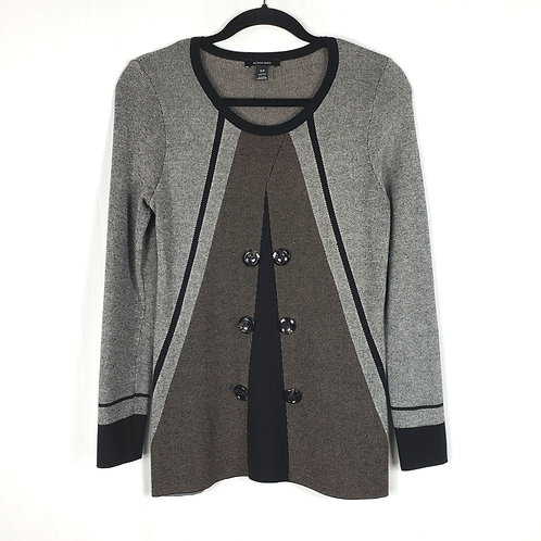 Alison Sheri  Gray Top with Buttons - S