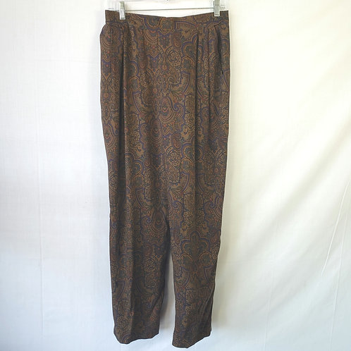 House of Walsh Pleat Front Paisley Pants - size 12