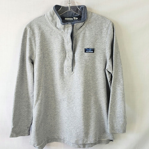 LL Bean Gray with Denim Accent Pullover - LP