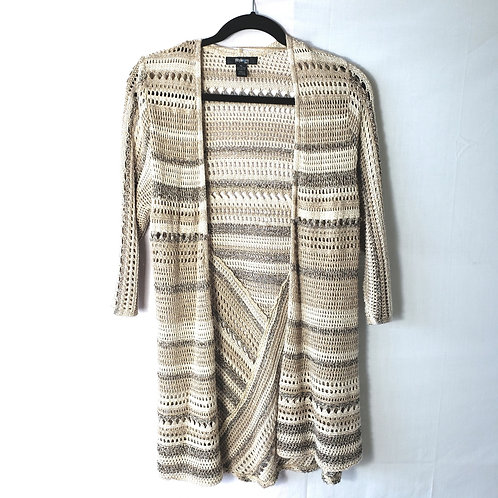 Style & Co Tan Open Knit Cardigan - PL