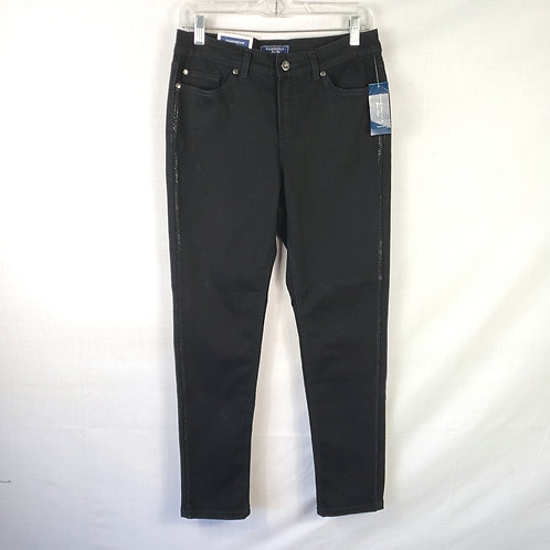 Charter Club Skinny Ankle Black Jeans - size 4 New