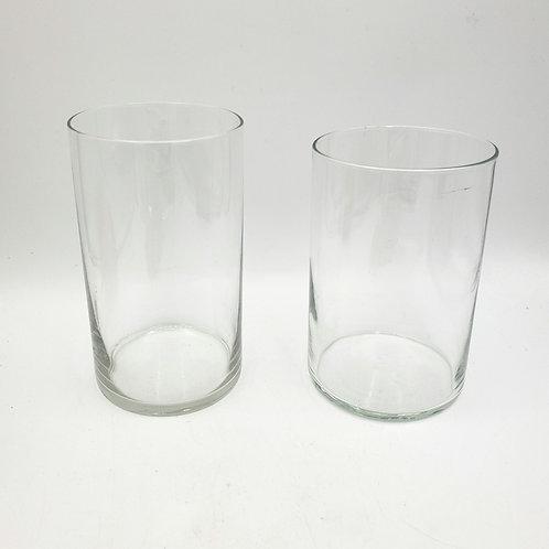 "Cylinder Shaped Vase Set 6"" and 7"" Set of 2"