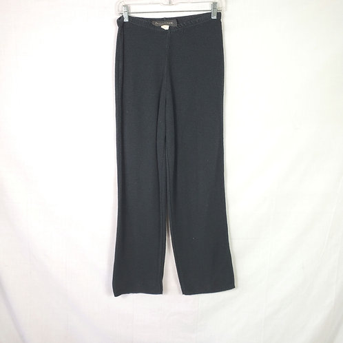 Peter Carol Knitwear Washed Black Knit Pants - S/M